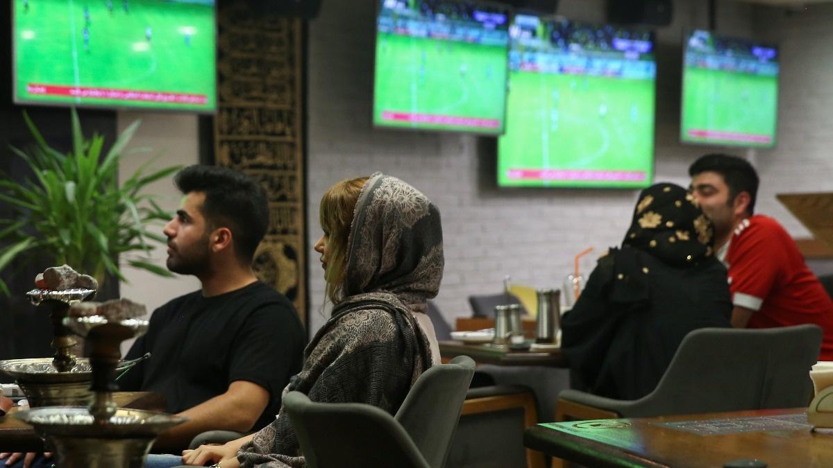 Iranian women score in soccer match ban