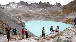 Activists stage funeral for Swiss glacier in Alps