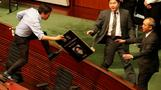 HK's legislature becomes protest battleground