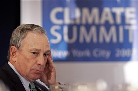 New York Mayor Michael Bloomberg listens to introductions at the C40 Large Cities Climate Summit luncheon in New York May 15, 2007. In an unpredictable 2008 presidential race, the prospect of a viable third-party candidacy -- particularly a self-financed bid by Bloomberg -- could be the biggest wild card of all. REUTERS/Richard Drew/Pool