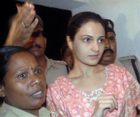 File Photo Of Former Actress Monica Bedi Being Ed By Police At A Railway Station In Bhopal July 18 2007 The Supreme Court Barred Media On