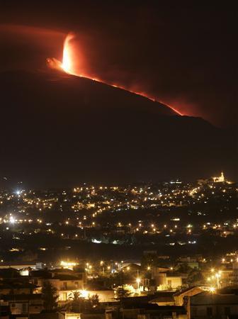 Sicilys Mount Etna Erupts No Danger To Residents
