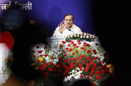 Finance Minister P Chidambaram is seen during a news conference in New Delhi in this February 28, 2007 file photo. REUTERS/B Mathur