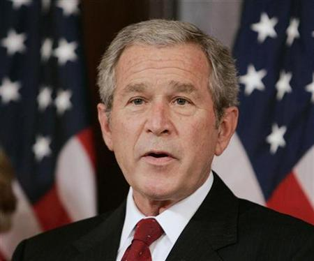 U.S. President George W. Bush speaks before he signs legislation expanding Pell Grants to help make college affordable for students, H.R. 2669, The College Cost Reduction and Access Act, while in the Eisenhower Executive Office Building, September 27, 2007. REUTERS/Larry Downing