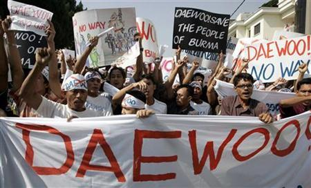 Daewoo says no plan to change Myanmar investt