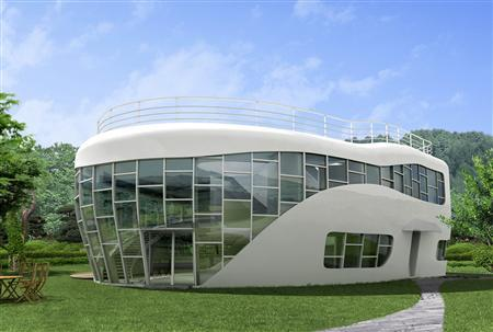 <p>A lavatory-shaped home is seen in this computer graphic image released  in Seoul on October 9, 2007. South Korean sanitation activists will mark  the ...