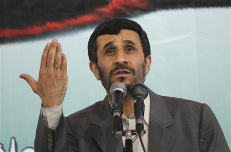 Iran's President Mahmoud Ahmadinejad speaks in Tehran University October 8, 2007. REUTERS/Stringer