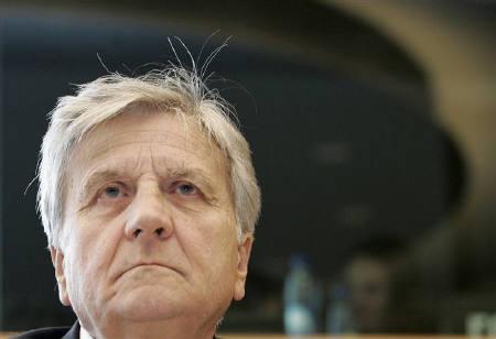 10月11日、欧州中央銀行(ECB)のトリシェ総裁、ユーロ圏と世界の成長は依然として力強く推移しているとの認識を示す。9日撮影(2007年 ロイター/Thierry Roge)