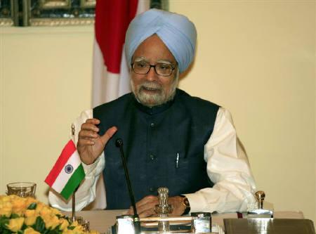 File photo of Prime Minister Manmohan Singh speaking at a news conference in New Delhi August 22, 2007. Singh said on Thursday mounting subsidies on food, fertiliser and oil must be addressed and the system restructured. REUTERS/B Mathur/Files