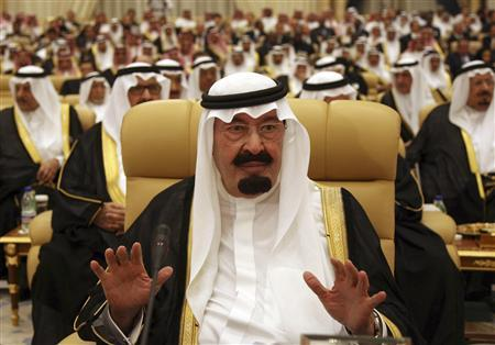 Saudi King Abdullah attends the opening ceremony for the OPEC Summit in Riyadh November 17, 2007. OPEC heads of state pledged to provide ''adequate, timely and sufficient'' oil supplies to the market at a meeting in Riyadh on Sunday, but the summit ended with a sharp political division over the weak dollar. REUTERS/Ali Jarekji