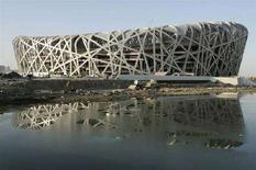 <p>Lo stadio a Pechino per le Olimpiadi del 2008. REUTERS/Alfred Cheng Jin</p>