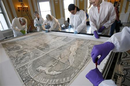 500 Year Old Map Of America.Map That Named America Is A Puzzle For Researchers Reuters