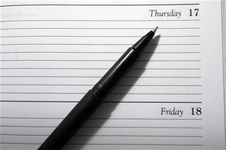 A generic picture of a diary. A flexible work life, including telecommuting and job shares, is good for your health, researchers said on Tuesday. REUTERS/Catherine Benson