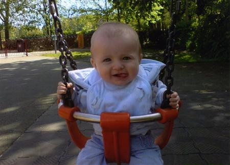 Police handout picture of Archie-Lee Andrew Hirst, who died after he was attacked by a family Rottweiler in Wakefield on Friday. REUTERS/Handout