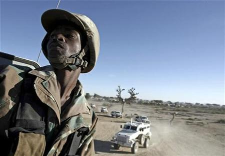 A Member Of The African Union Mission In Sudan AMIS On Outskirts Kutum Town North Darfur December 14 2007 Admitted Thursday That Its