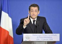 <p>Il presidente francese Nicolas Sarkozy. REUTERS/Eric Feferberg/Pool (FRANCE)</p>
