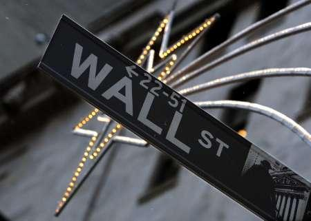 A street sign is seen on Wall Street outside the New York Stock Exchange December 5, 2007. REUTERS/Brendan McDermid