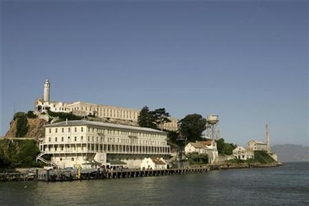 A general view of Alcatraz in San Francisco April 30, 2007. San Francisco voters will decide on Tuesday whether to remove the famous Alcatraz Prison visited by thousands of tourists a day and instead create a ''global peace center.'' REUTERS/Robert Galbraith