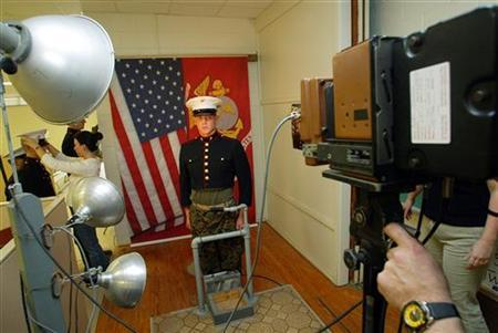 a united states marine corps recruit poses for his file photo at parris island south carolina january 6 2005 officials in the famously liberal