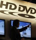 <p>Uno stand di Toshiba al Consumer Electronics Show (CES) di Las Vegas, il 6 gennaio 2008. REUTERS/Rick Wilking (UNITED STATES)</p>