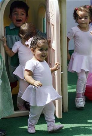 Milagros Cerron C At A Nursery School In Lima April 20 2007