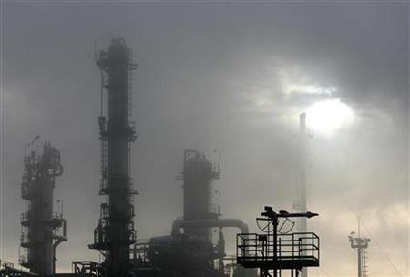 Hungarian oil and gas group MOL's main Duna (Danube) refinery is seen in Szazhalombatta, 20km (12miles) south of Budapest, in this January 8, 2007 file photo. A senior European Commission official on Tuesday called again for numerical targets to effectively fight climate change. REUTERS/Laszlo Balogh/File