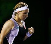 <p>Российская теннисистка Светлана Кузнецова радуется победе над американкой Винус Уильямс 1 апреля 2008 года. Российская теннисистка Светлана Кузнецова вышла в 1/2 финала турнира Sony Ericsson Open, проходящего в Майами. (REUTERS/Carlos Barria)</p>