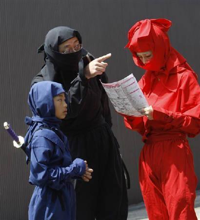 4月6日、三重県伊賀市で「伊賀上野NINJAフェスタ」が開催されている(2008年 ロイター/Kim Kyung-Hoon)