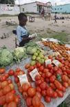 <p>Девочка торгует овощами на окраине столицы Зимбабве Хараре 25 марта 2008 года. Рост цен на продукты питания почти в два раза за последние три года может привести к ухудшению условий жизни около 100 миллионов бедных людей и повысить уровень нищеты во всем мире на 3-5 процентных пункта, сообщил глава отделения Всемирного банка по сокращению бедности и экономическому менеджменту в Латинской Америке и Карибском регионе Марсело Гиугале. (REUTERS/Philimon Bulawayo)</p>