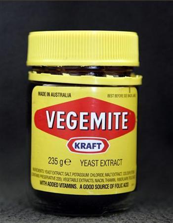 A jar of the Australian spread Vegemite in New York in this October 24, 2006 file photo. REUTERS/Brendan McDermid