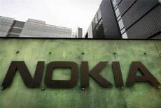 <p>Immagine del Centro Ricerca e Sviluppo di Nokia a Helsinki, in una foto dell'11 aprile 2008. REUTERS/Bob Strong (FINLAND)</p>