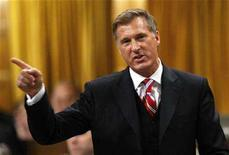 <p>Canada's Foreign Affairs Minister Maxime Bernier speaks during Question Period in the House of Commons on Parliament Hill in Ottawa April 16, 2008. REUTERS/Chris Wattie</p>