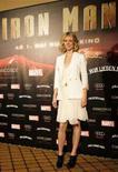 "<p>Gwyneth Paltrow alla presentazione di ""Iron Man"" a Berlino. REUTERS/Johannes Eisele (GERMANY)</p>"