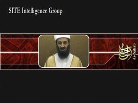 5月27日、米情報当局者は、アルカイダが大量破壊兵器を使う能力を獲得した兆候はない、との認識を示した。写真は昨年9月に公開されたアルカイダの指導者ウサマ・ビン ラディン容疑者とみられるビデオ映像から。提供写真(2008年 ロイター/SITE Intelligence Group)