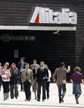 <p>La sede di Alitalia a Roma. REUTERS/Chris Helgren</p>