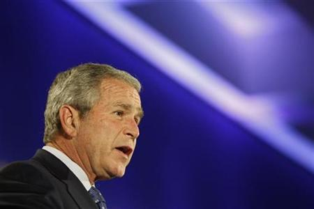 President George W. Bush delivers remarks at the Organization for Economic Cooperation and Development (OECD) in Paris June 13, 2008. REUTERS/Jason Reed