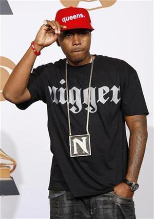 2c340f24202 Rap artist Nas poses backstage at the 50th Annual Grammy Awards in Los  Angeles February 10, 2008. REUTERS/Lucy Nicholson
