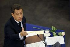 <p>Il presidente francese Nicolas Sarkozy. REUTERS/Vincent Kessler</p>