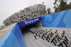 <p>Lo stadio a nido d'uccello di Pechino REUTERS/Joe Chan</p>