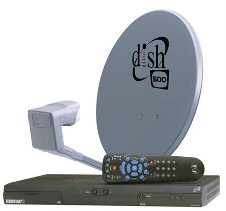 A DISH Network Pro-301 satellite dish and box are seen in an undated handout photo. REUTERS/DISH Network/Handout