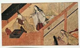 <p>Un'illustrazione dall'antico romanzo Genji. REUTERS/Ho Electa</p>