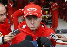 <p>Il pilota finlandese della Ferrari Kimi Raikkonen. REUTERS/Francois Lenoir (BELGIUM)</p>