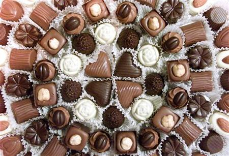 A variety of chocolates are shown in a file image. REUTERS/Kimberly White