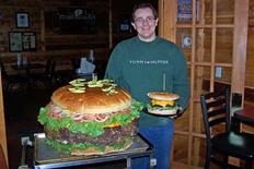 <p>Biggest Burger - Denny's Beer Barrel Pub, Clearfield, Pennsylvania (although this claim often faces rivals). Order ahead for a 123 lb (56 kg) burger. Of course, there's always the 6 lb (3 kg) version if you're just after a snack. REUTERS/Handout</p>