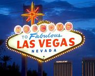 <p>The famous sign at the south end of the Las Vegas strip in a file photo. REUTERS/Ethan Miller</p>