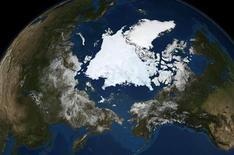 <p>La Terra vista da un saterllite. REUTERS/NASA/Goddard Space Flight Center Scientific Visualization Studio/Handout</p>