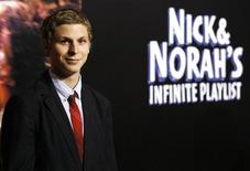 """<p>Cast member Michael Cera poses at the movie premiere of """"Nick and Norah's Infinite Playlist"""" at the Arclight theatre in Hollywood, California October 2, 2008. The movie opened in the U.S. on October 3. REUTERS/Mario Anzuoni</p>"""