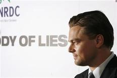 """<p>Actor Leonardo DiCaprio arrives for the premiere of the film """"Body Of Lies"""" in New York, October 5, 2008. REUTERS/Lucas Jackson</p>"""