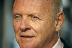 """<p>Cast member Anthony Hopkins attends the premiere of """"Beowulf"""" at the Mann Village theatre in Westwood, California November 5, 2007. REUTERS/Mario Anzuoni</p>"""