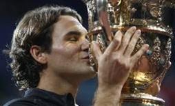 <p>Federer conquista 3o título na Basiléia, sua terra natal. REUTERS/Vincent Kessler</p>